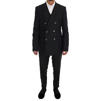 Dolce & Gabbana Gray MARTINI Wool Silk Slim fit Suit