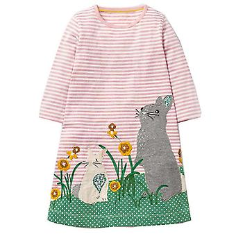 Long Sleeve Dress , Rabbits Motif, Infant