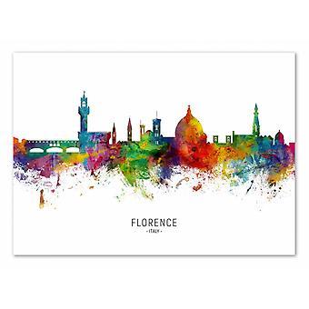 Art-Poster - Florence Italy Skyline (Colored Version) - Michael Tompsett 50 x 70 cm