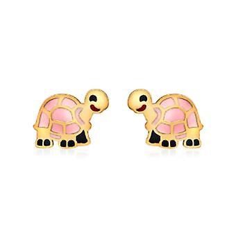 Boucles d'oreilles Tortoise Stud pour enfants en or jaune 9K