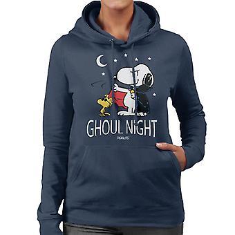 Peanuts Ghoul Night Snoopy & Woodstock Women's Hooded Sweatshirt