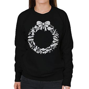 Thunderbirds Icon Weihnachtskranz Frauen's Sweatshirt