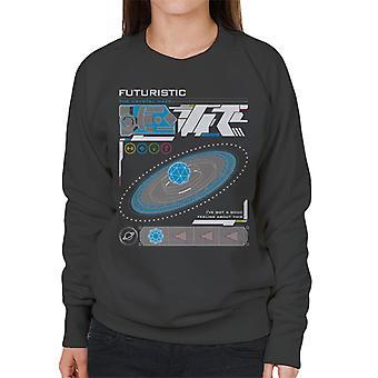 Krystal labyrinten futuristisk grænseflade kvinder ' s sweatshirt