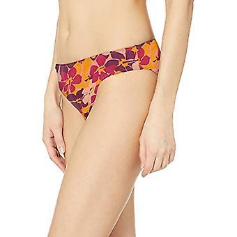 Essentials Women's Classic Bikini Badedragt Bund, Orange Floral, S