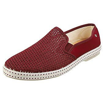 Rivieras Classic 20 Mens Espadrille Shoes in Burgundy