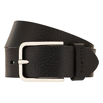 bugatti Belt Men's Leather Belt Men's Belt Full Cowhide Black 3021