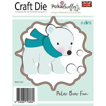 Polkdoodles Polar Bear Fun Dies