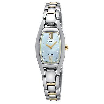 Seiko Solar zweifarbige Armband Damenuhr mit Mutter der Perle Dial - Sup312p1