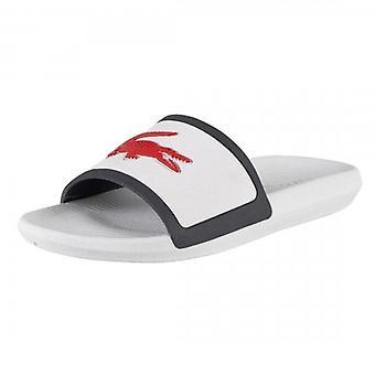 Lacoste Croco Slide TRI3 Witte Slide Sandalen