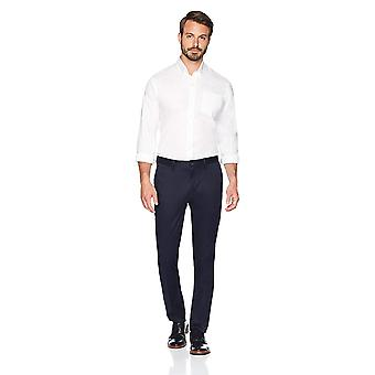 BUTTONED DOWN Men's Slim Fit Stretch Non-Iron Dress Chino Pant, Navy, 35W x 34L