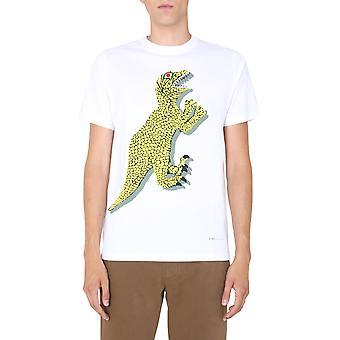 Ps Door Paul Smith M2r011rep211901 Men's White Cotton T-shirt