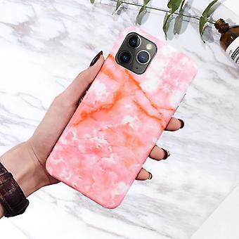 Moskado iPhone XS قضية الرخام الملمس - صدمة لامعة حالة الغرانيت غطاء الغلاف TPU
