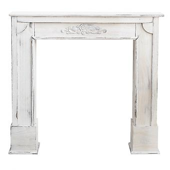 Rebecca Furniture Camino Decoração Grey Wood Fireplace Shabby 100x105x21