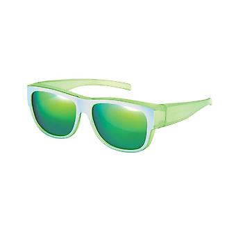 Sunglasses Unisex silver with green mirror VZ0024T