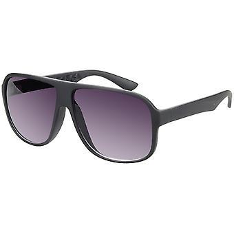 Sunglasses Unisex rectangular matt black (A-Z17405)