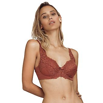 Guy de France Femmes's Earth Floral Lace Non-Padded Underwired Full Cup Bra