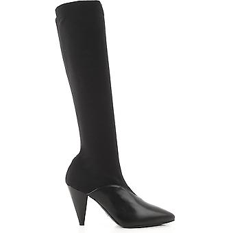 Prada Ezcr039001 Women's Black Fabric Boots