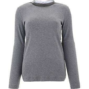 Fabiana Filippi Jed220w134c4438132 Dames's Grey Cotton Sweater