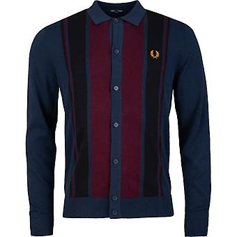 Fred Perry Authentics Colour Block Knitted Polo Shirt