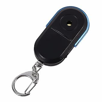 Anti-lost Alarm For Key Finder Locator Keychain Whistle Sound With Led Light (black)