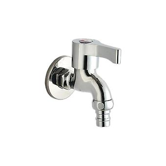 Fine Copper 4 Points Washing Machine Faucet Short T1001 Silver