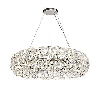 Éclairage Luminosa - Pendentif plafond 26 Light G9 Polid Chrome, Cristal