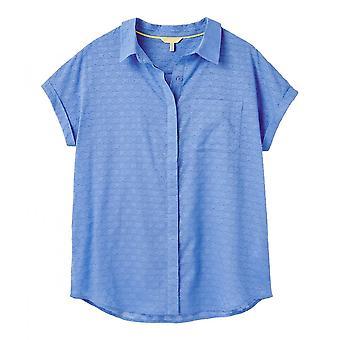 Joules Dela Texture Hihaton Button Läpi paita (meritähti)