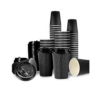50 kpl 8Oz kertakäyttöinen takeaway kahvi paperikupit triple seinä ottaa pois W kannet