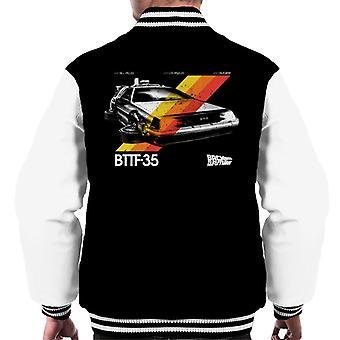 Back to the Future 35th Anniversary Delorean Stripes Men's Varsity Jacket