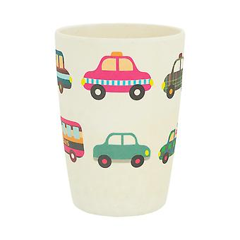 Tiny Dining Children's Bamboo Fibre Juice Cup - Voitures