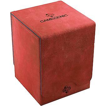 Escudeiro gamegênico 100-card conversível caixa de baralho vermelho
