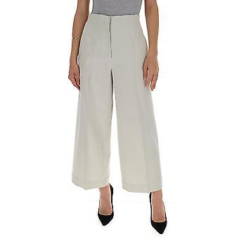 'S Max Mara 91310501600480001 Femmes-apos;s Pantalon en coton blanc