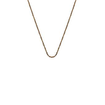 """Emozioni Sterling Zilver Rose Gold Plate RGP Criss Cross 24 """"dunne ketting CH095"""