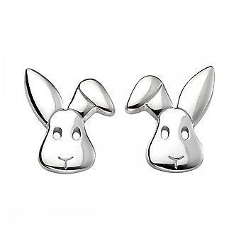 بدايات الجنيه الاسترليني الفضة E5423 الأرنب مسمار الأقراط