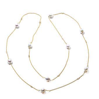 Isabella Liu Twilight Collection Diamond Necklace Yellow Gold Plated Silver