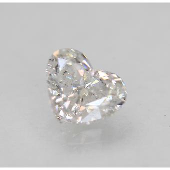 Certifié 1.01 Carat D Color SI1 Heart Natural Loose Diamond 6.95x5.99mm 2VG
