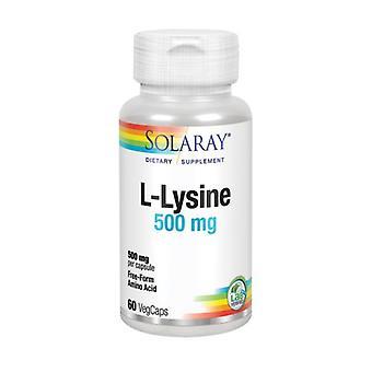 Solaray L-Lysine, 500 mg, 60 Caps