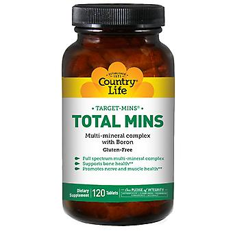 Country Life Total Mins Multi-Mineral Complex Target-Mins, 120 Tabs
