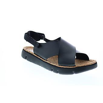 Camper Oruga Sandal Womens Svart Läder Slingback Sandaler Skor