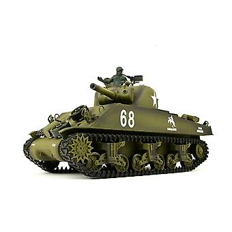 Heng Long RC Tank US M4A3 Sherman 1:16 Electric Motor Metal Gearbox Smoke Sound
