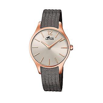 لوتس L18751-1 رمادي الصلب حزام حزام ساعة اليد