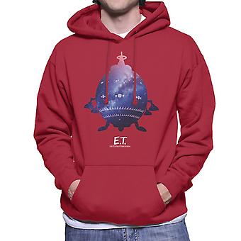 E.T. Spacecraft Galactic Silhouette Men's Moletom Encapuzado