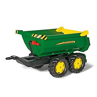 Rolly toys giant john deere half pipe twin Axle multi trailer for 3 - 10 years -