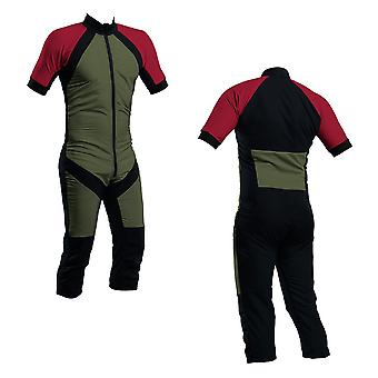 Skydiving summer suit olive-paprika-black s2-04