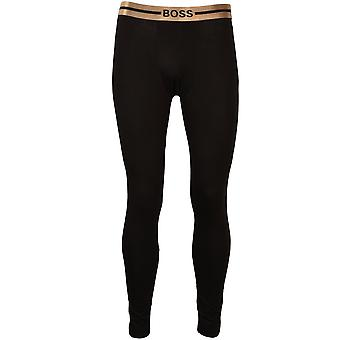 BOSS Golden Waistband Bamboo Smooth Long Johns, Noir/or