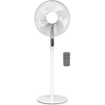 Cozytek White 14inch Oscillating Pedestal Standing Fan