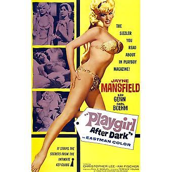 Playgirl después de oscuridad nos cartel Jayne Mansfield 1960 película cartel Masterprinter