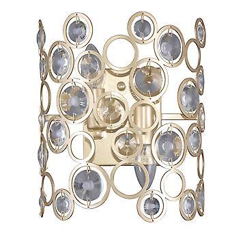 Nowoczesna lampa ścienna Złoty Szampan 2 Światło , E14