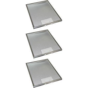 3 x Universal Cooker Hood Metal Grease Filter 269mm x 219mm