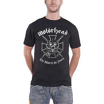 Motorhead T Shirt The World is Yours warpig band logo New official Mens